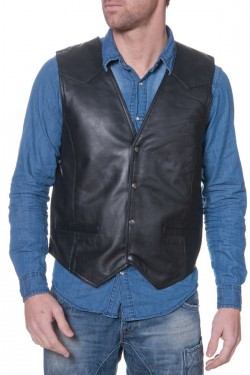 gilet homme last rebels gilet man 01 ag black cuir. Black Bedroom Furniture Sets. Home Design Ideas