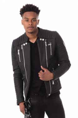 Blouson Homme horspist MANOIR BLACK Cuir – spécialiste du cuir