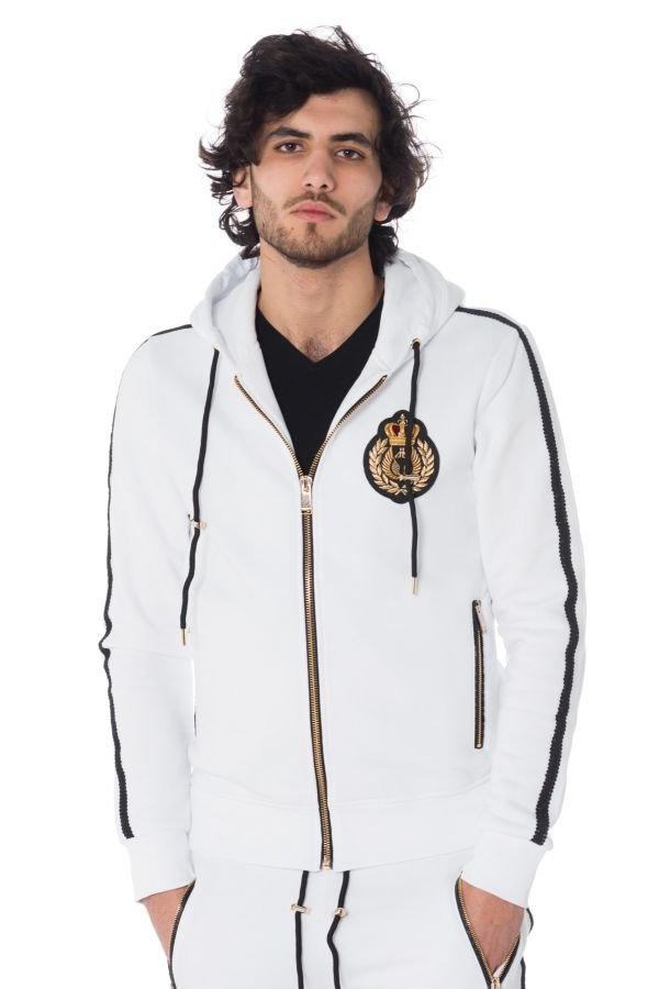 Pull/sweatshirt Homme Horspist BRAD M300 WHITE