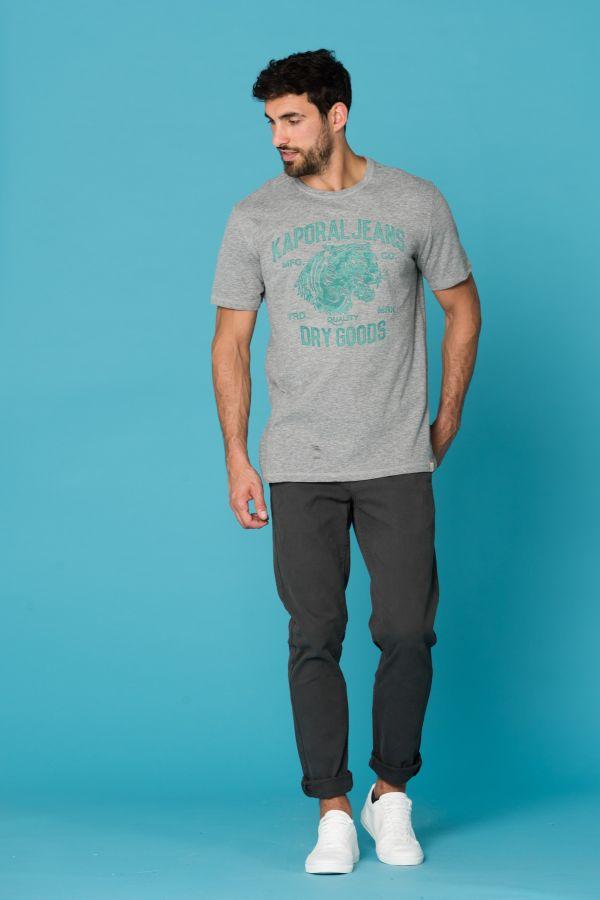 Tee Shirt Homme Kaporal PINTO GREY MELANGED