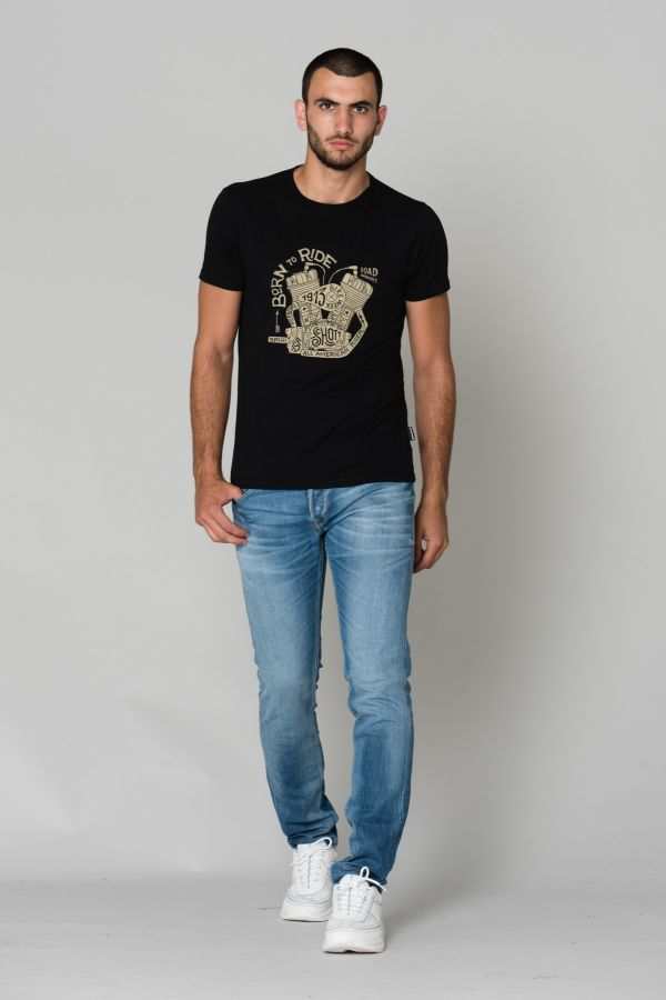 Tee Shirt Homme Schott TSLARRY BLACK