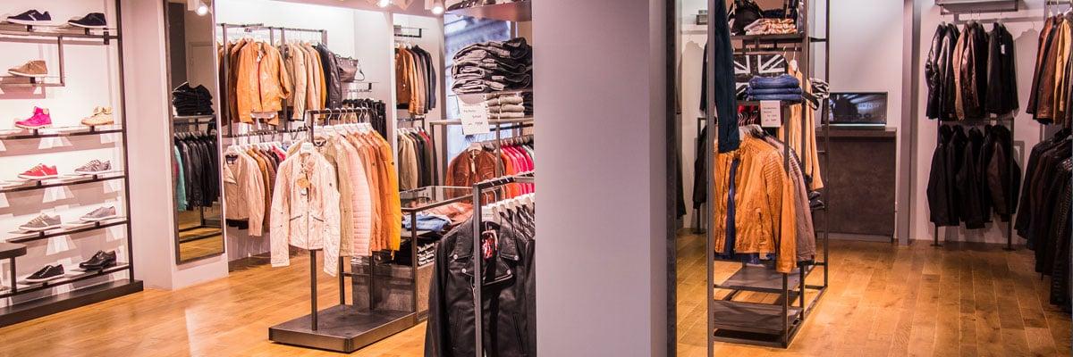 photo d'intérieur de la boutique Cuir-City d'Amiens