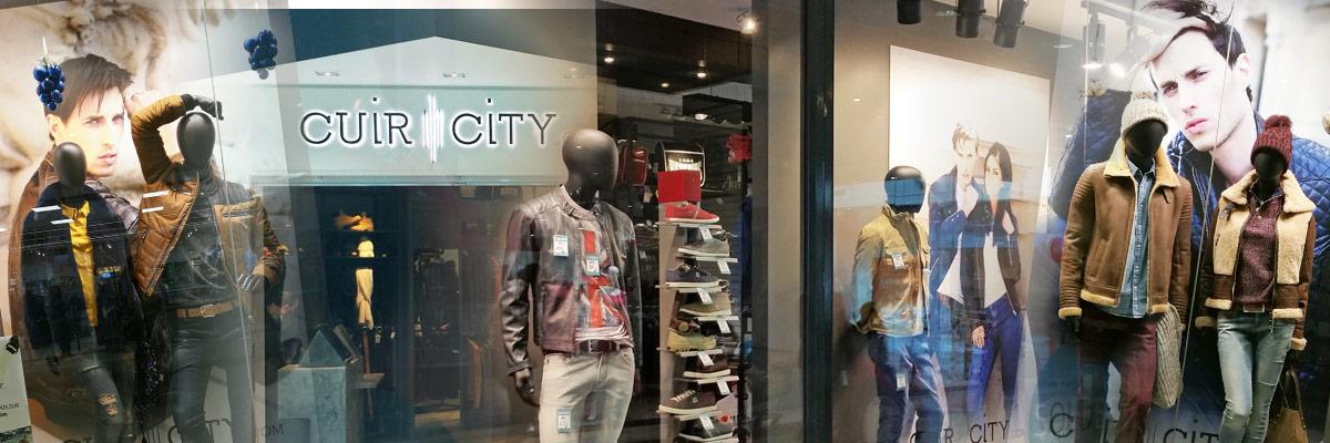 photo d'intérieur de la boutique Cuir-City de Douai