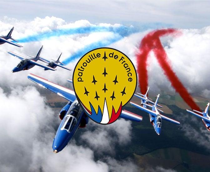 C 584 Lederjacke Patrouille De France