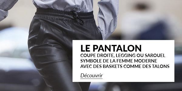 C 297 Pantalons Cuir Femme