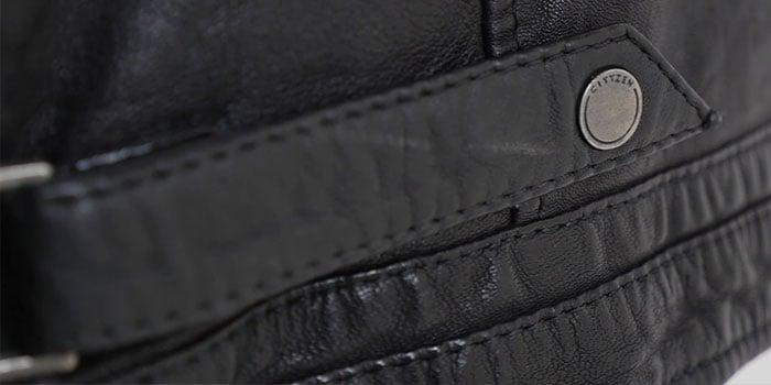 Blouson en cuir détails