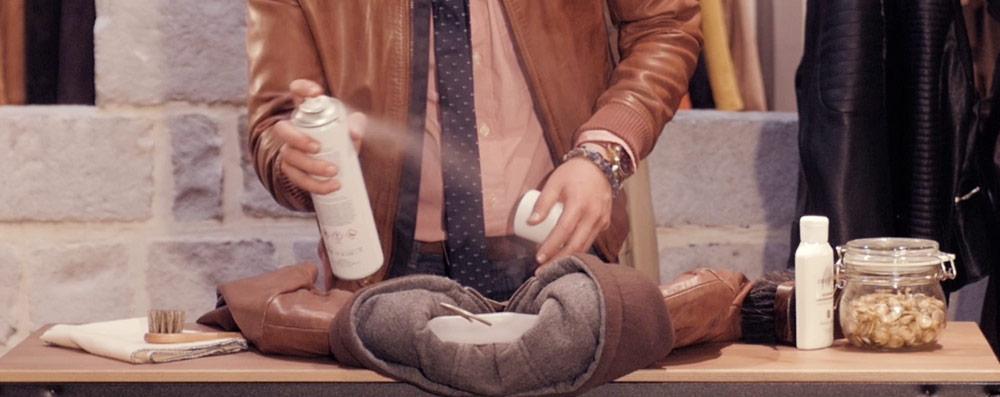 Comment nettoyer une veste en daim beige